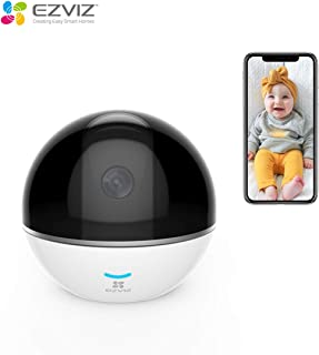 EZVIZ C6TC, 1080p WiFi Smart Home Security Camera, Surveillance Camera with Motion Tracking, 360° Rotating, Two-Way Talk, Brilliant Night Vision - White