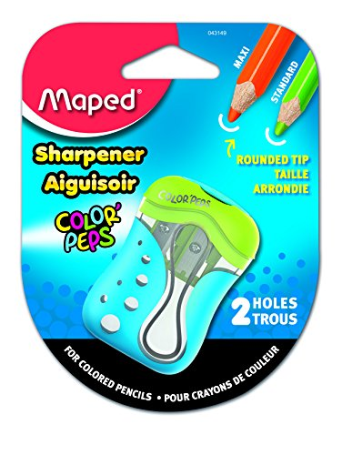 Maped Color'Peps 2 Hole Colored Pencil Sharpener, Assorted Colors (043149)