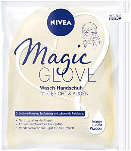 NIVEA Magic Glove Waschhandschuh für Gesicht und Augen, für die Gesichtsreinigung ohne Waschgel oder Seife, Reinigungshandschuh reinigt sanft Gesicht und Augenpartie