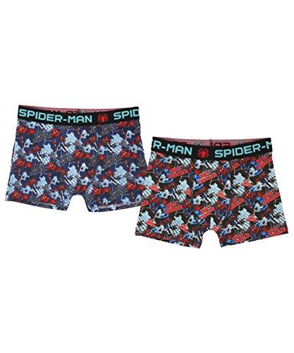 Spiderman Jongens Boxers Twee Pack Kids Ondergoed 122cm, 6-7 jaar