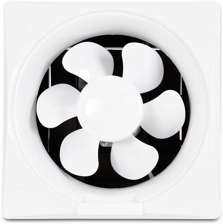 Ventilador de extracción de 8 pulgadas (200 mm), extractor de aire de pared silencioso para cuarto de baño, garaje, cocina, 30 W, 220 V, ventilación 450 m3/h, flujo de aire