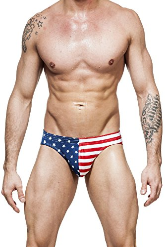 Gary Majdell Sport Herren-Bikini, USA-Freedom-Flagge, Stars & Stripes - - Medium