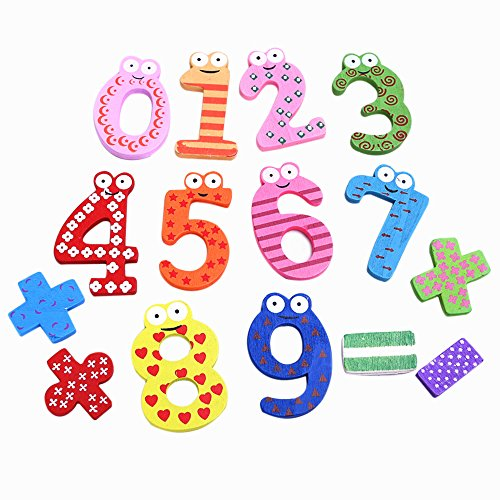 Academyus Wooden Numeric Fridge Magnets Kids Educational Maths Toy Refrigerator Magnet