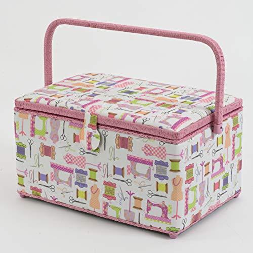 Dritz Basket, Pink Sewing Notions