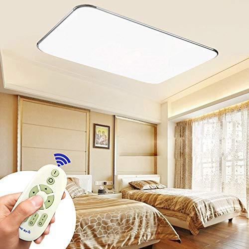MIWOOHO 72W Modern Dimmbar LED Ultraslim Deckenleuchte Badleuchte Deckenlampe Flurleuchte Silber (3000-6500K)