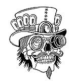 Dosige 1 Adhesivo de Pared del cráneo Skull Punk Rock Creativo Personalidad extraíble Vinilo Pegatinas de Arte de Pared Pegatinas de Calavera de azúcar (Color: Negro) 58 * 73cm