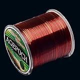 日本の素材モノフィラメント鯉釣りライン8.0#0.50ミリメートルの18.4キロテンション500メートルエクストラストロング輸入生糸ナイロン釣りライン(グラスイエロー) dfgeurhgjdksa (Color : Wine Red)