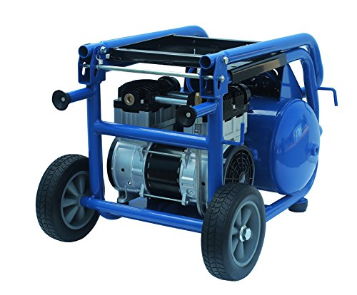 Eagle EA-6000 Silent Series 6000 Air Compressor 125 psi MAX Hot Dog with Panel and Wheels, Blue, 6 gallon