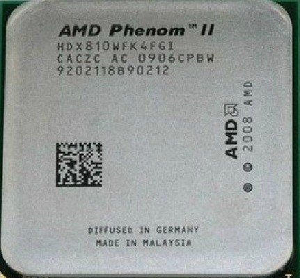 AMD Phenom II X4 810 - Procesador de núcleo cuádruple (2,6 GHz, AM3)