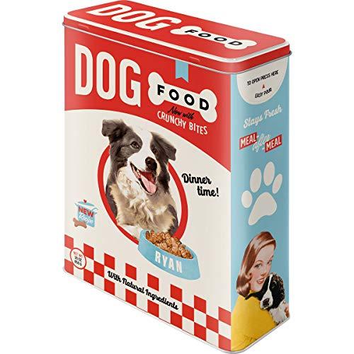 Nostalgic-Art Retro Vorratsdose XL Dog Food – Geschenk-Idee für Hunde-Besitzer, Aufbewahrungsbox für Trockenfutter, 4 l