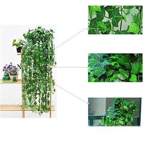 KICODE TOPMountain 94 polegadas/2,4 m Vine Plant Leaves escalada Tiger Leaves Artificial Falsa Pendurar para decoração de casa em ambientes internos e externos