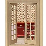 WINOMO 01:12 - Casa de muñecas en miniatura (puerta exterior de madera, 28 paneles)
