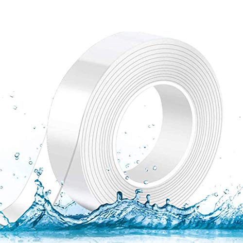 両面テープ 超強力 はがせる 魔法テープ 両面 透明 テープ のり残らず 水洗い可 繰り返し使える ガムテープ カーペットテープ ゲル粘着テープ マジックテープ 滑り止め 接着 防水 補修 内装 車用 文房具 3ヶ月品質保証 (5mx3cmx2mm)