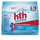 hth Pool Shock Super Shock Treatment 6 count 6lbs...
