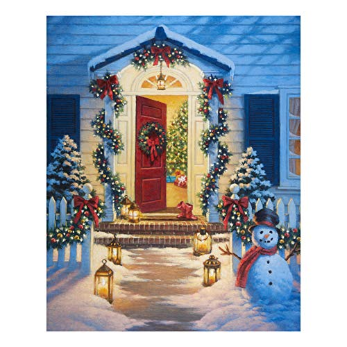 Riley Blake Designs A Christmas Classic Porch 36in Panel Quilt Fabric