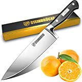 STEINBRÜCKE Chef Knife 8 Inch - Sharp Kitchen Knife Forged from German High Carbon Stainless Steel with Ergonomic Handle and Full Tang, Versatile Cooking Knife for Home Gourmet Restaurant