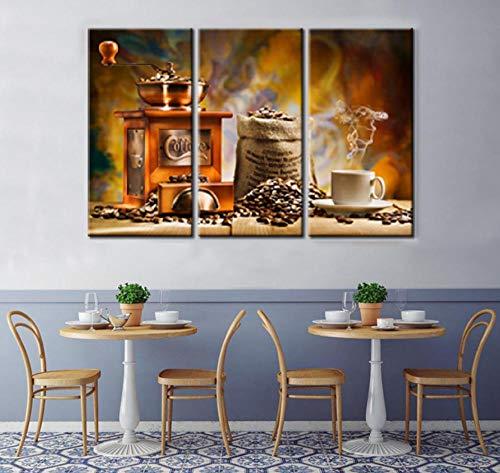 Suwhao Moderne Hd Gedrukte Afbeeldingen Canvas Home Decoratie Woonkamer 3 Panel Retro Koffiemachine Schilderen Muur Kunst Poster Modulaire Fram