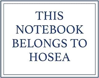 This Notebook Belongs to Hosea