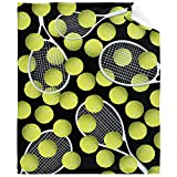 """Tennis Ball Sport Flannel Blanket Fleece Cozy Throws Soft Blankets for Wedding Birthday Valentines Halloween Couch Beding Picnic-50""""x40 Small for Kids"""
