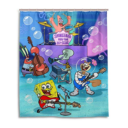 HUHAOCZ Spongebob Squarepants Bath Shower Curtain Waterproof...