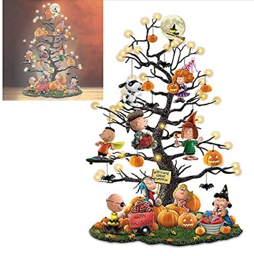 It's The Great Pumpkin' Illuminated Halloween Tree, Halloween Christmas Tree Pumpkin Lantern, Pumpkin Tree Decorations, Holiday Party Interior Decoration