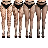 Fullsexy Plus Size Fishnet Stockings, Fishnet Tights Thigh High Stockings Pantyhose for Women