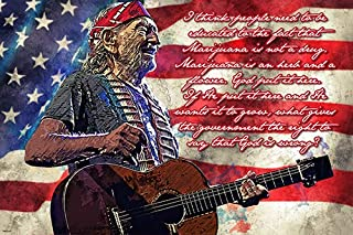 Famous Country Blues and Jazz Singer Songwriter Poster 24x36 Marijuana Quote Home Decor Print
