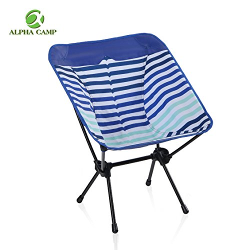 ALPHA CAMP Camping Chair Portable Ultralight Compact Folding Camping Backpack Chairs with Carry Bag Heavy Duty 225lb Capacity Compact Lightweight Folding Chair for The Outdoors Camping Hiking Blue