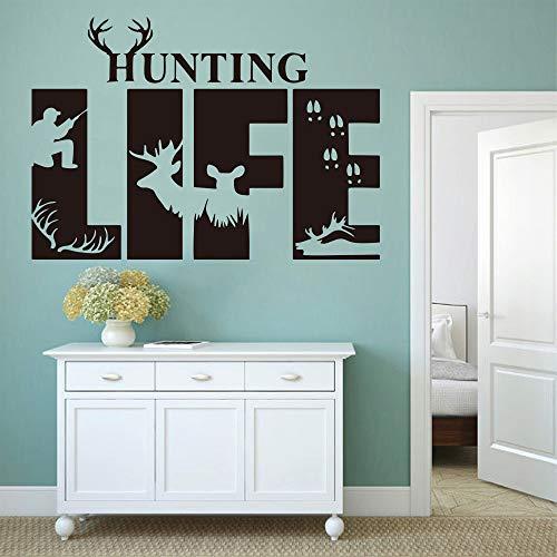 Geiqianjiumai Jacht leven citeert herten voeten muur woonkamer slaapkamer jungle jager Kerstmis citaten kinderkamer muur stickers