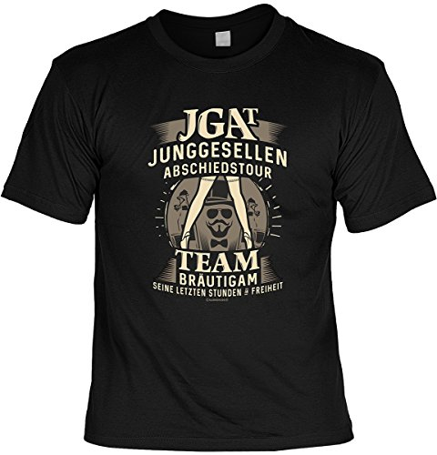 Junggesellenabschied witziges T-Shirt für Junggesellenfeier Ehe JGA Shirts JGA Outfit JGA Polterabend Hochzeit Junggesellen Abschiedstour (XL, JGA)