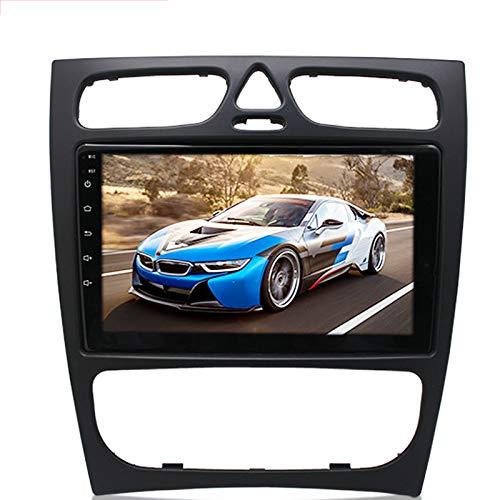 Tlyd Video de automóviles Reproductor de MP5 Navegación y posicionamiento Soporte de posicionamiento 1080P FM Radio Manos Libres Control de Volante de Llamada Adecuado para Mercedes-Benz C (1 + 16G)