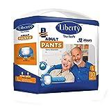 Liberty Premium Adult Diaper Pants Unisex, Large 10 Pcs, Waist Size (75-100 cm | 30-39 Inches)