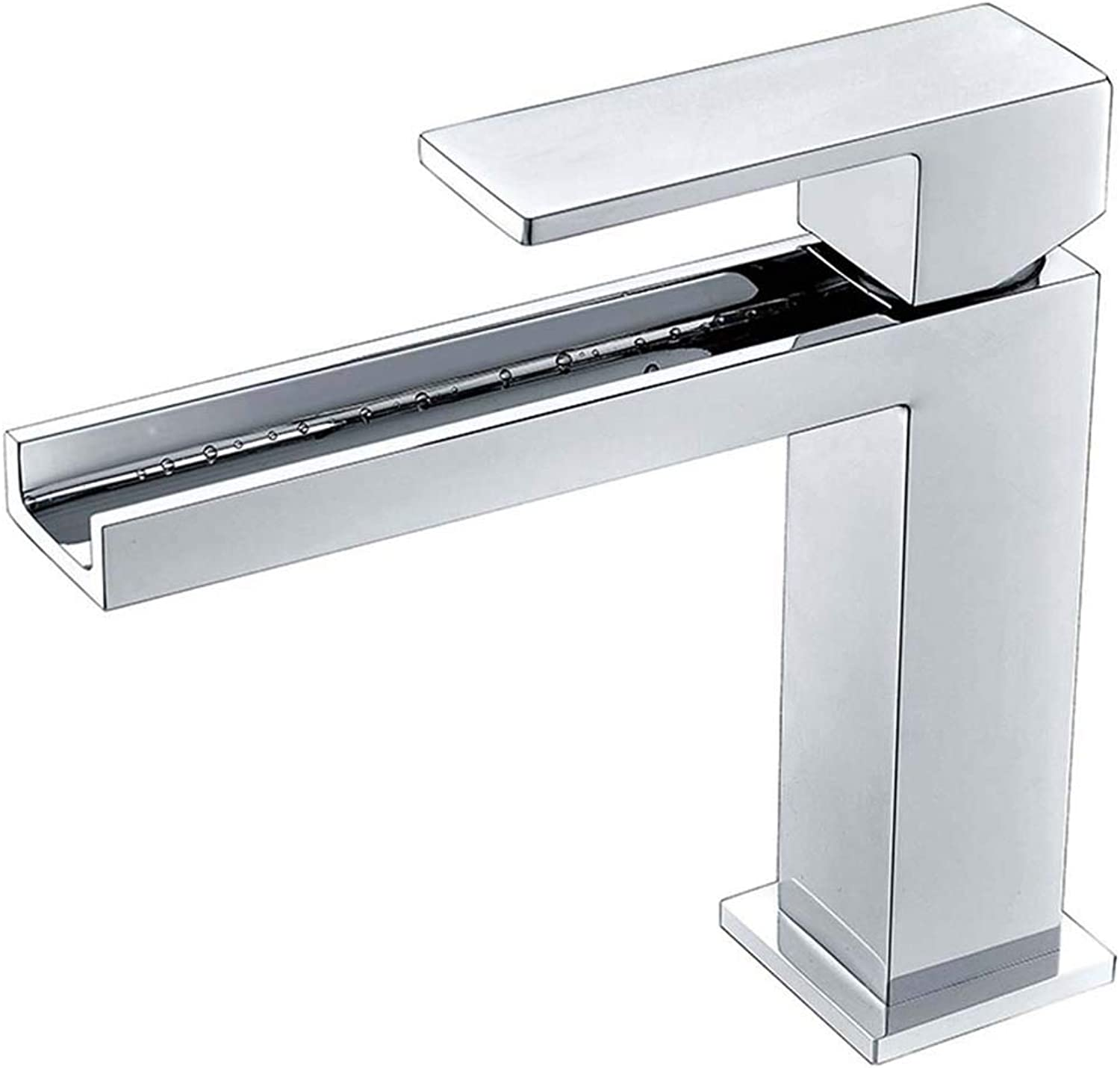 Flashing FL- Square Basin Faucet, Chrome-plated Hot and Cold Mixing Basin Mixer