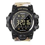 PWE-Reloj Digital Deportivo EX16S,con Podómetro,Contador,Cronómetro,Cámara Remota,50M Resistente Al Agua,Beige
