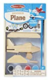Melissa & Doug Decorate-Your-Own Wooden Plane Craft Kit, Great Gift for Girls and Boys – Best for 4, 5, 6, 7 and 8 Year Olds