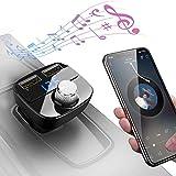 DIVI Transmetteur FM Bluetooth, Kit de Voiture Sans Fil Adaptateur Radio Chargeur de Voiture avec...
