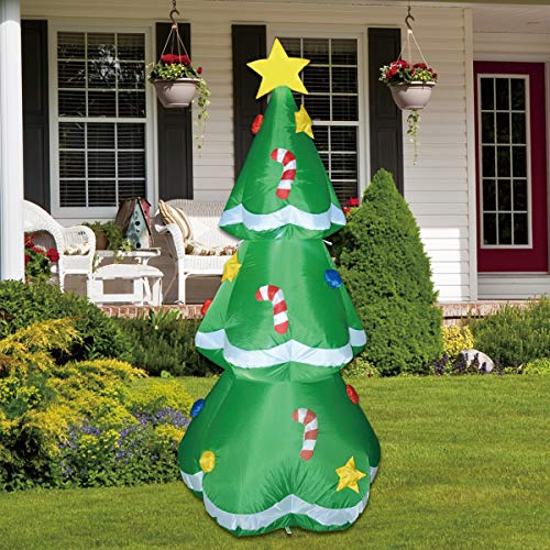 GOOSH 5 Ft Christmas Indoor Outdoor Inflatable Tree Decorations(5 Ft Christmas Inflatable Tree)
