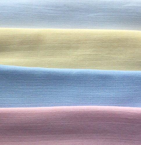 Premium kwaliteit grote mousseline vierkanten 70x70 / 60X60 cm baby doek herbruikbare luier slabbetjes doekjes 100% katoen 70 X 70 CM 3 X Lemon