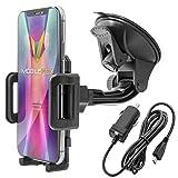 Mobilefox KFZ SET 360° Universal Handy Halterung Auto Halter für die Windschutzscheibe mit Micro...