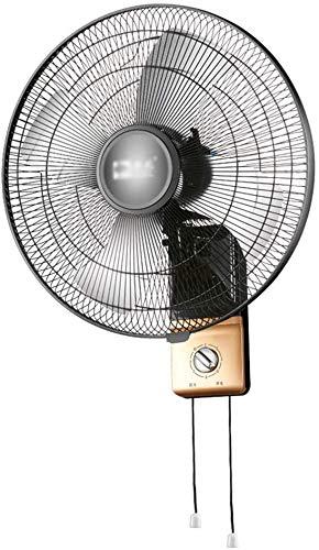 Byakns Muro de Negocios con Ventilador, oscilando |mecánica |18/20 Pulgadas |Negro |3 velocidades |Ventilador de Pared |Ventilador eléctrico |Metal (Size : 50CM(20)