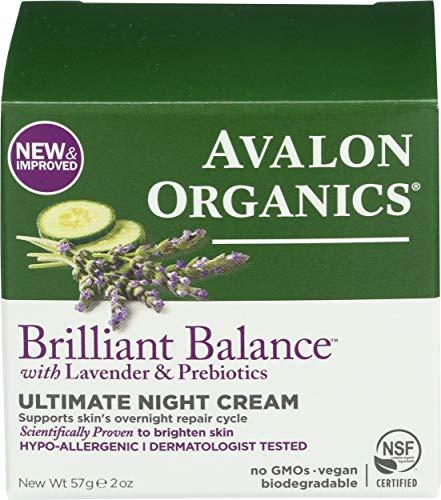 Avalon Organics Brilliant Balance with Lavender & Prebiotics Ultimate Night Cream 2 oz