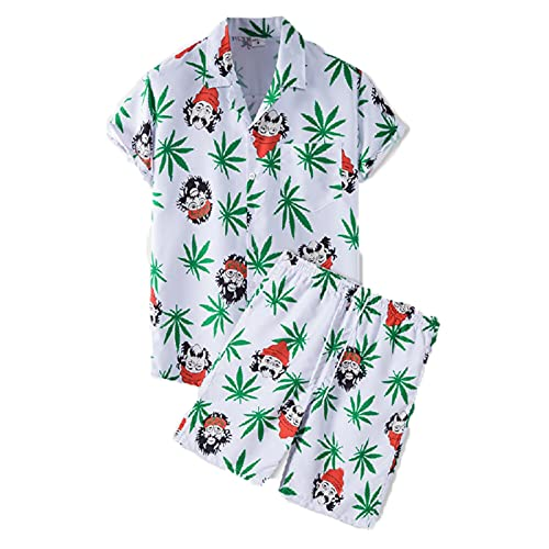 SSBZYES Herrenhemd Kurzarm Sommerhemd Herren Plus Size Hemd Kurzarmhemd Herren Shorts Dünne Kurzarm Strandhose Anzug