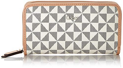 Gabor Damen Barina Geldbörse mit Reißverschluss, Weiß (Weiß), 16.5x10.5x2.5 cm (B x H x T)