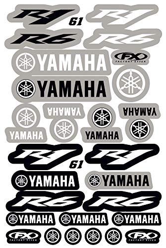 Kit DE Adhesivos COMPATIBLES para Casco Yamaha R1 R6 PATROCINADOR Motocicleta Cross Enduro (61)