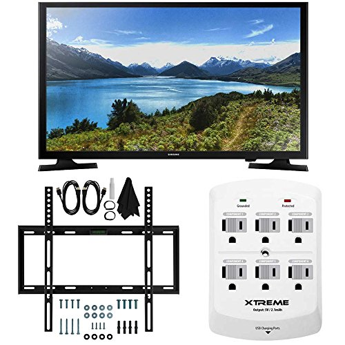 Samsung UN32J4000-32-Inch LED HDTV J4000 Series Slim Flat Wall Mount Bundle Includes UN32J4000 32-inch HDTV, Slim Flat Wall Mount Bundle 6 Outlet Wall Tap w/ 2 USB Ports