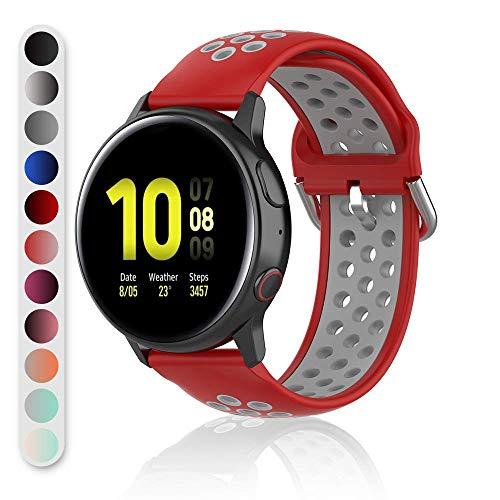 Gogoings Bracelet Compatible pour Samsung Galaxy Watch(42mm)/Actice/Active2(40mm,44mm), Bracelet de Remplacement Femme Homme Sport Réglable Compatible pour Garmin vivoactive3/vivomove HR