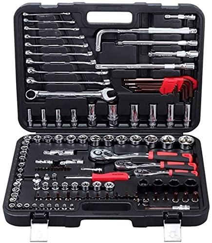 Llave inglesa 120 unids Socket Set de herramientas de reparación de automóviles Kit de herramientas de mano de carraca Juego de llave dinamométrica Cromo Vanadio Acero Herramientas de reparación