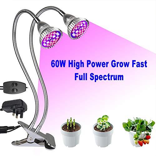 40 W DEL Grow Plant Light Bulb Plantes Lampe 6 Bande Fleur 6500k Full Spectrum e27