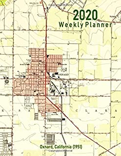 2020 Weekly Planner: Oxnard, California (1951): Vintage Topo Map Cover