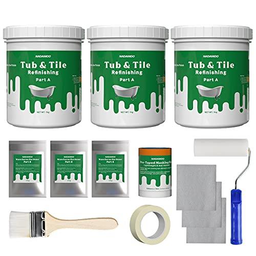 NADAMOO Bathtub Refinishing Kit DIY Sink Tub and Tile Repair Kit, For...